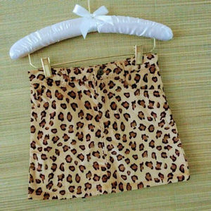 Crazy 8 Leopard Print Girl Skirt